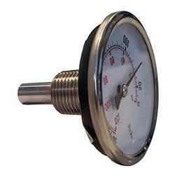 """CNSG 2.5"""" Dial x 1.5"""" Stem Brewing/Distilling Thermometer wi"""