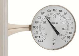 Conant Custom Brass Large Dial Thermometer Satin Nickel Fini