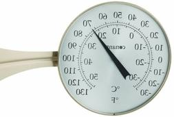 dial thermometer satin finish