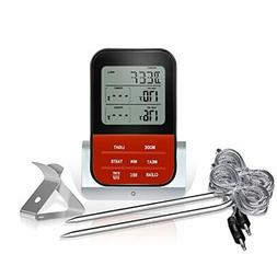 Digital Cooking Food Meat Thermometer Instant Read with 2 Lo