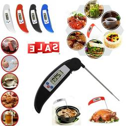 Digital Instant Read Thermometer Food- Folding Probe For BBQ