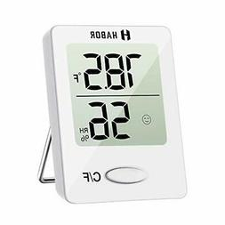 Habor Digital Hygrometer Indoor Thermometer, Humidity Gauge