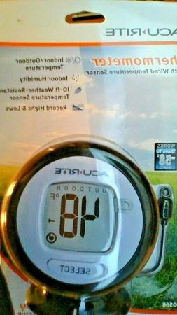 AcuRite Digital Indoor/Outdoor Black Thermometer