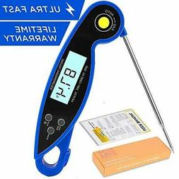Digital Instant Read Cooking Meat Thermometer - Collapsible