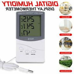 Digital LCD Indoor/Outdoor Temperature Thermometer Hygromete