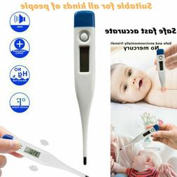Digital LCD Thermometer Medical Baby Adult Body Kids Safe Ea