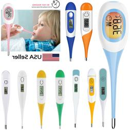 digital lcd thermometer medical teal body safe