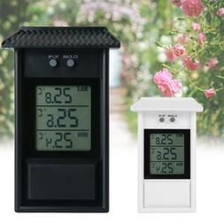 Digital LCD Thermometer Outdoor Waterproof Max. Min. Digital