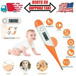 Digital LCD Thermometer Soft Type Baby Adult Body Safe Ear M