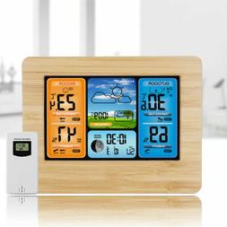 Digital LCD Wireless Color Weather Station Calendar Thermome