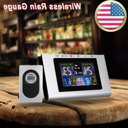 Digital LCD Wireless Weather Station Calendar Clock Thermome