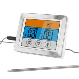 """Digital Meat Food Thermometer Oven Safe Timmer w/ 3.2"""" Large"""