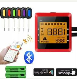 Digital Meat Thermometer APP Wireless Bluetooth Smart BBQ Th