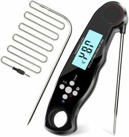 Digital Meat Thermometer Foldable Super Fast BBQ Waterproof