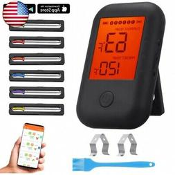 Digital Meat Thermometer, Wireless APP Controlled Bluetooth