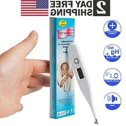 Digital Oral Thermometer LCD Baby Adult Kids Body Safe Ear B
