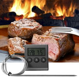 Digital Probe Oven & Meat Thermometer Timer for BBQ Grill Me