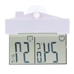 Digital Thermometer Hygrometer Suction Cup Humidity Monitor