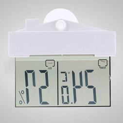 Digital Thermometer Hygrometer Suction Cup Temperature Meter