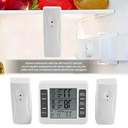 Digital Thermometer Indoor/Outdoor Monitor Temp Humidity Wir