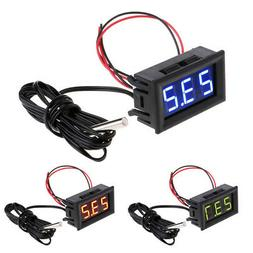 Cold Hot Digital Thermometer LED Display Temperature Celsius