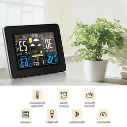 Digital Weather Station In/Outdoor Thermometer Hygrometer/Hu