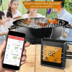 Digital Wireless Bluetooth Remote 6  Probes Cooking Food Ove