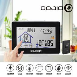 Digital Wireless Weather Forecast Station In/Outdoor Thermom