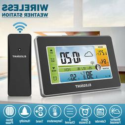 ELEGIANT Digital Wireless Color Weather Station Thermometer