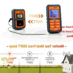 digital wireless meat cooking thermometer bbq grill