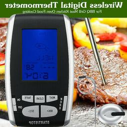 Digital Wireless Remote Meat Thermometer With Probe For BBQ