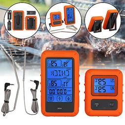 Wireless Digital BBQ Meat Thermometer Dual Probes Food Cooki
