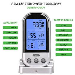 dual probe wireless remote digital cooking thermometer