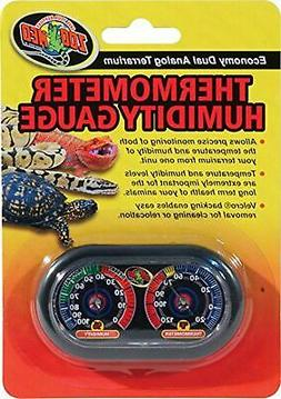 Zoo Med Economy Analog Dual Thermometer and Humidity Gauge,
