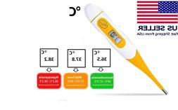 electronic digital lcd thermometer adult baby felxible