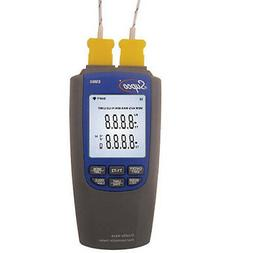 Supco EM60 Dual Differential Thermometer for HVAC/R service