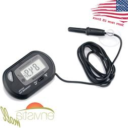 Digital LCD Fish Aquarium Thermometer with Submersible Probe