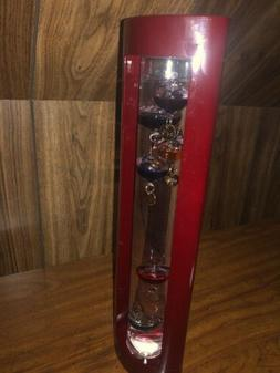 Galileo Glass Thermometer, 7 Colored Glass Balls, Temperatur