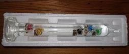 GALILEO THERMOMETER 12 INCH 64° F TO 80° F 5 SPHERES 4° D