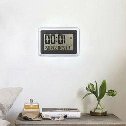 Home LCD Digital Large screen size Wall Clock Thermometer Ca
