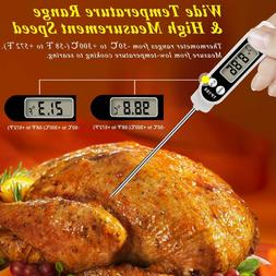 Instant Read Digital Cooking Meat Thermometer with Long Prob