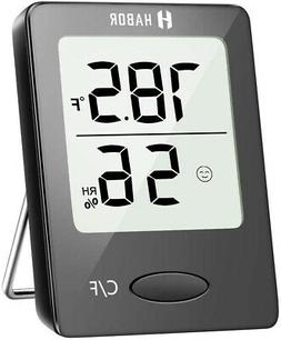 Habor Hygrometer Indoor Thermometer, Humidity Gauge Room The