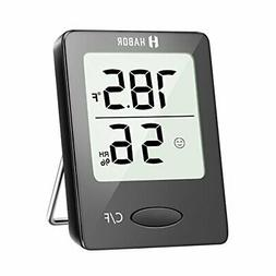 Habor 2 Pieces Digital Hygrometer Indoor Thermometer, Mini R