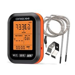 ict2p lcd screen bbq cooking thermometer timer