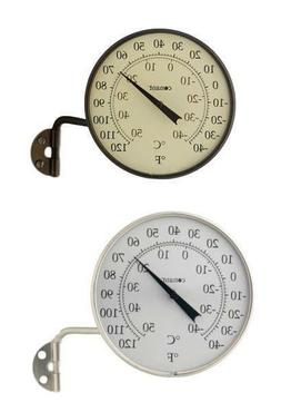 """Indoor Outdoor 4"""" Dial Thermometer in Bronze Patina or Satin"""