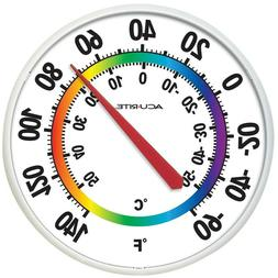 AcuRite Indoor/Outdoor Analog Thermometer Easy Read Large Te