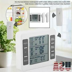 Indoor Outdoor Digital Wireless Thermometer Temperature 2 Se