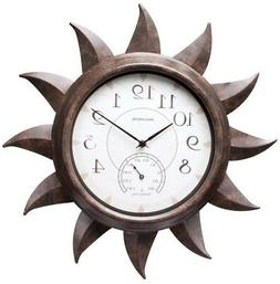 AcuRite Indoor/Outdoor Sun Clock Wall Mount with Thermometer