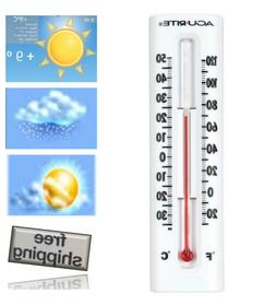 AcuRite Indoor Outdoor Wall Thermometer White Temperature Ga