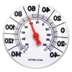 """Indoor/Outdoor Thermometer, White, 8"""""""